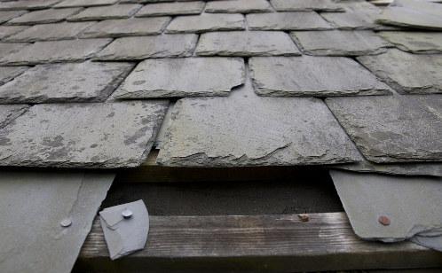 broken slate roof