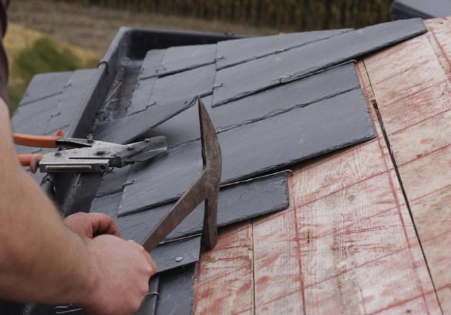 install slate roof