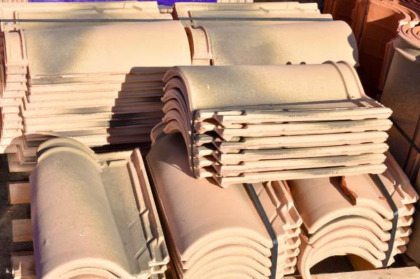 roof tile stacks